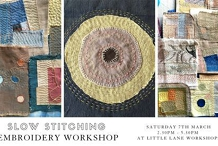 Slow Stitching Embroidery Workshop