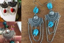 Workshop Boho Stone Earrings