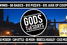 Gods Tuesdays January 21st ~ Live Music, Cheap Jugs and Wines
