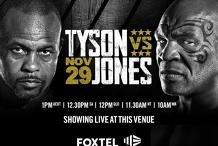 Mike Tyson vs. Roy Jones Jr. | Screening live at the Kingy
