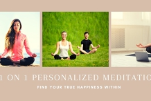 1 on 1 Personalized Meditation Consultation
