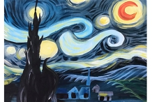 Van Gogh Starry Night - Belgian Beer Cafe
