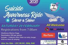 Ride 4 Life - Suicide Awareness Ride (Sat 29 Feb)