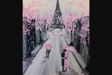 Paint and Sip Class - Spring in Paris
