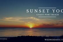 Sunset Yoga at Coast Port Beach