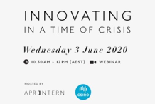 Innovating in a time of Crisis