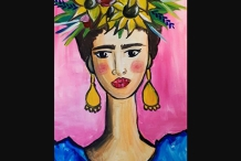 Paint and Sip Class - Frida