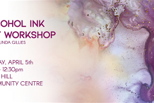 Alcohol Ink Abstract Art Workshop - April 5th