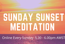 Sunday Sunset Meditation Online