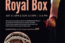 Royal Box for the Fremantle Street Arts Festival