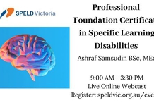 Professional Certificate in Dyslexia & SLDs Live Online Workshop