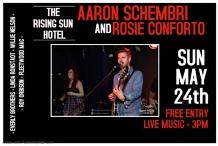 Aaron Schembri & Rosie Conforto at The Rising Sun Hotel