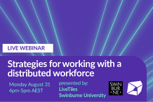 Strategies for Working with a Distributed Workforce