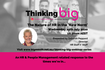 Thinking Big webinar event series - The Nature of HR in the 'New Norm'
