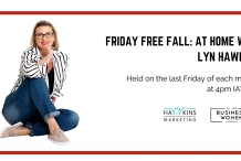 Online, Friday Free Fall: At Home with Lyn Hawkins