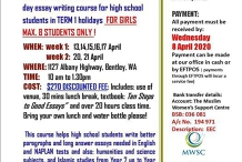 Essay Writing Course for High School Girls