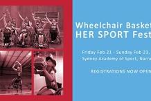 Wheelchair Basketball HER SPORT Festival