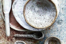 Rustic Ware: plates, dishes, mugs, spoons, knives
