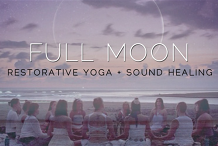 Full Moon : Restorative Yin Yoga + Sound Healing (February)