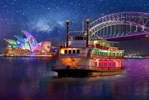Vivid Sydney Dinner Cruise on Sydney Showboats