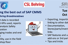 VICTAS Getting the best out of SAP CMMS - CSL Behring Broadmeadows