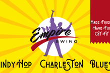 Empire Swing Class sign ups July 13th & 15th (partner dancing!)