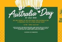 Australia Day // Epic Bites & Live Music at Salt Bar