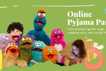 Online Pyjama Party with Larrikin Puppets
