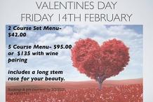 Valentines Day- Friday 14/2/2020