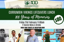 Currumbin Vikings Lifesavers Lunch '100 Years of Memories'