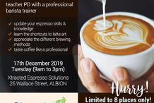 Blueprint PARTNERSHIP ONLY Espresso coffee training - Teacher PD