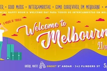 Welcome to Melbourne + Happy Hour: Beer, Snacks y estudiantes