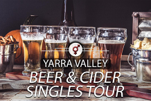 Beer & Cider Singles Tour | F 30-46, M 34-49 | March