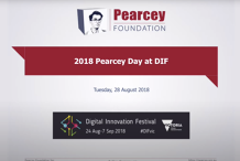 Pearcey Oration 2018