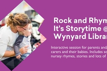 Rhyme It's Story time Bookings REQUIRED @ Wynyard Library