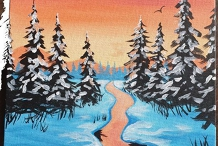 Paint & Sip at the Studio - Snowy