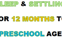 Sleep and Settling, 12 months to Pre-school age (Cancelled 4 June 2020)