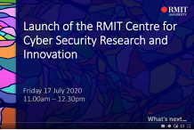 Cyber Security Research Centre Launch