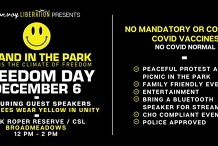 FREEDOM DAY - A Stand in the Park, MELBOURNE