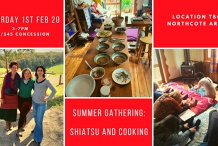 Summer Workshop with CoShiCo: Shiatsu and Cooking