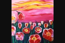 Paint and Sip Class - Poppies