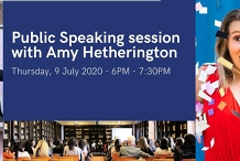 Public Speaking session with Amy Hetherington