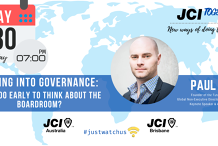 JCI TOGETHER series: Paul Smith  - Getting into Governance: Is it too early to think about the boardroom?