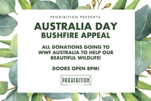 Prohibition's Australia Day Bushfire Appeal!