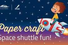 Make a paper craft space shuttle