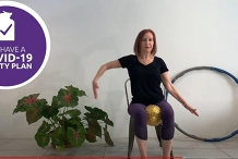 Seated / Chair Aerobics LIVE ZOOM Class at Home and Spillett House