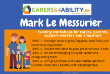 Mark LeMessurier - FREE online evening workshops for carers, parents, support workers and educators