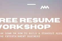 Free Resume Workshop: Breaking Down Standout Entertainment Business Resumes