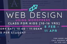 Weekly Web design (Wordpress) class for Kids [10-16yrs]