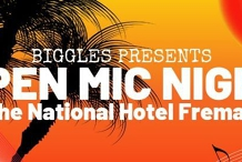 OPEN MIC NIGHT at The National Hotel hosted by Biggles